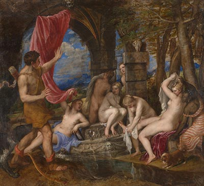 titian, diana and actaeon, nationl gallery london