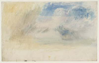 turner - study of clouds, tate collection, london