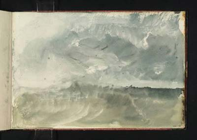 turner - storm at sea - watercolour in sketchbook - tate collection - london