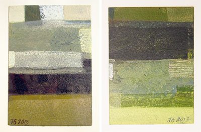 very small paintings rural landscape abstracts