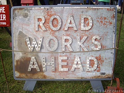 vintage-metal-sign-road-works-ahead