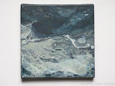 water surface abstract painting, the constant flow of water, currents, tides, waves, crashing, drowning