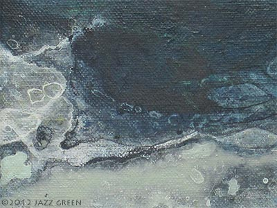 river water painting, intriguing surface patterns, depth, flow and force of water