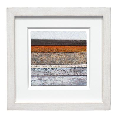abstract painting - rust, tar and driftwood